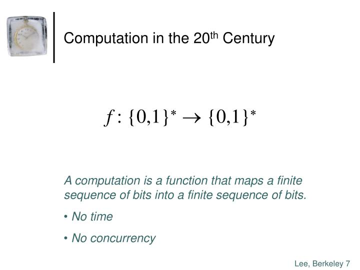 Computation in the 20