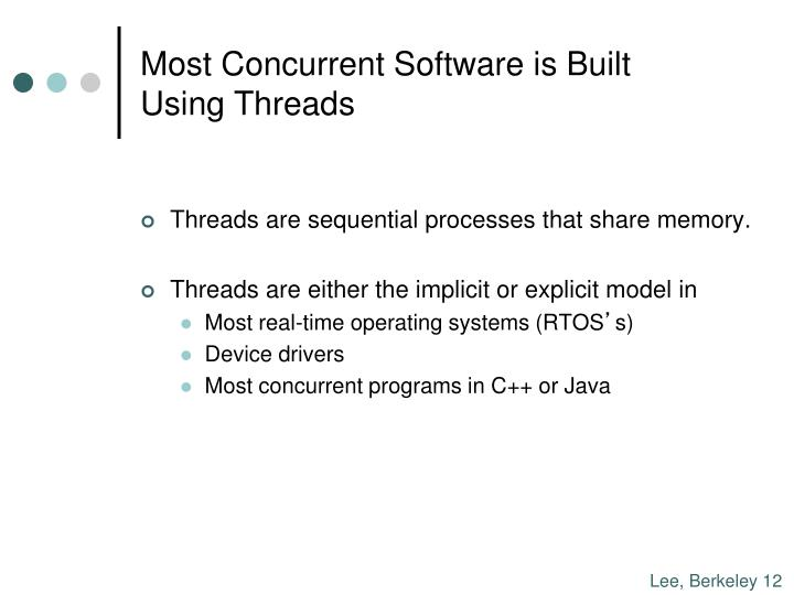 Most Concurrent Software is Built
