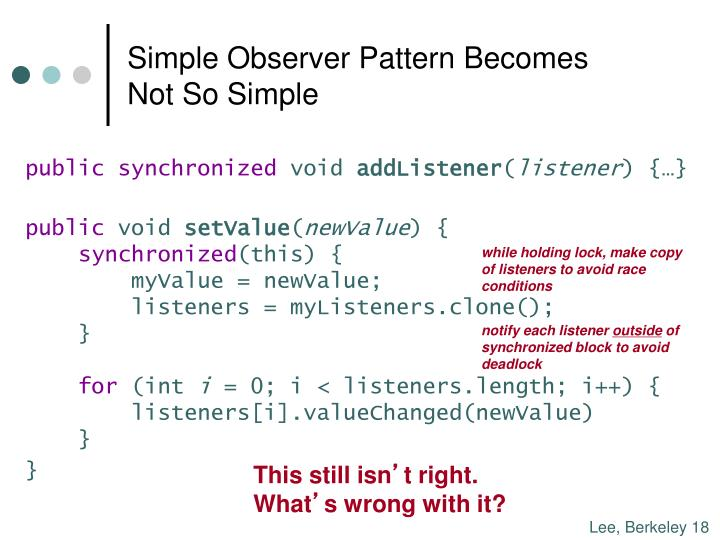 Simple Observer Pattern Becomes