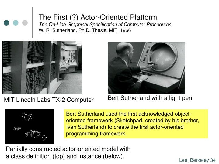 The First (?) Actor-Oriented Platform