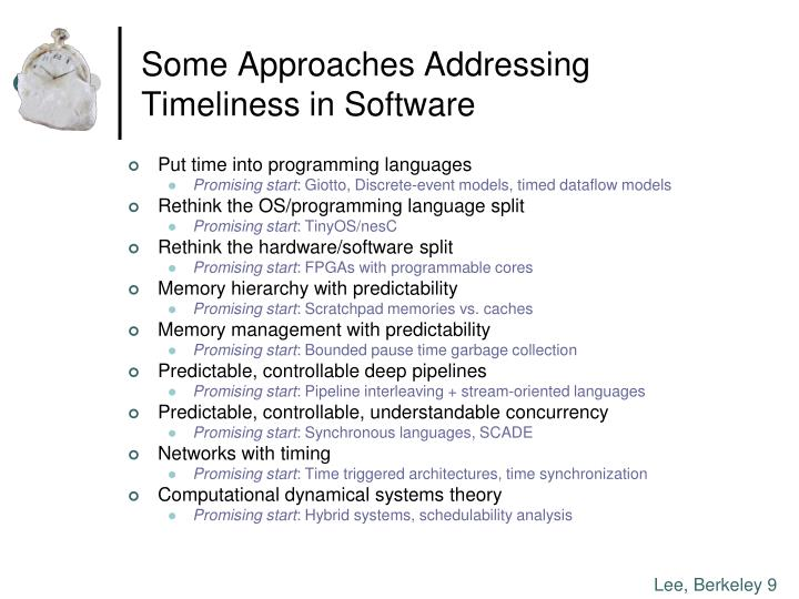 Some Approaches Addressing
