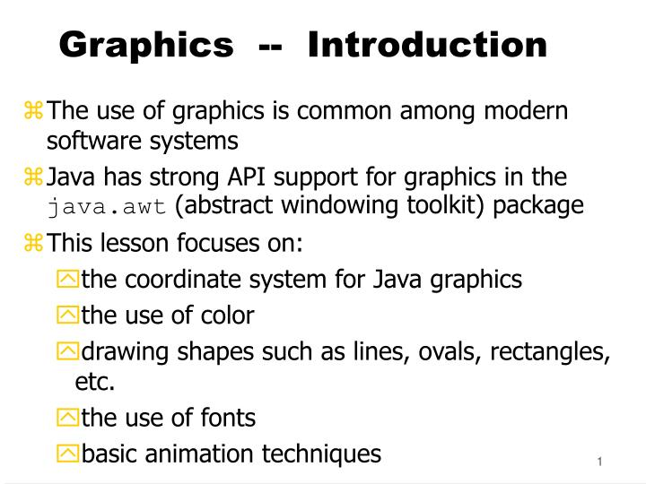 graphics introduction n.