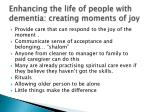 enhancing the life of people with dementia creating moments of joy
