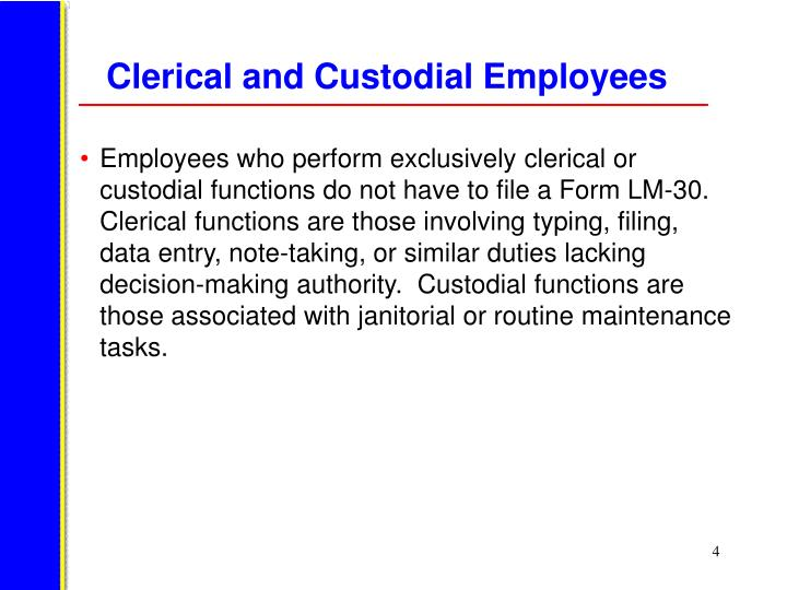 Clerical and Custodial Employees