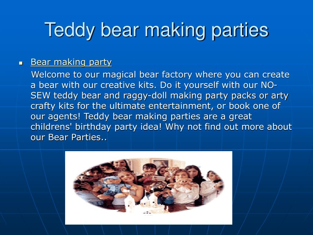 teddy bear making parties l.