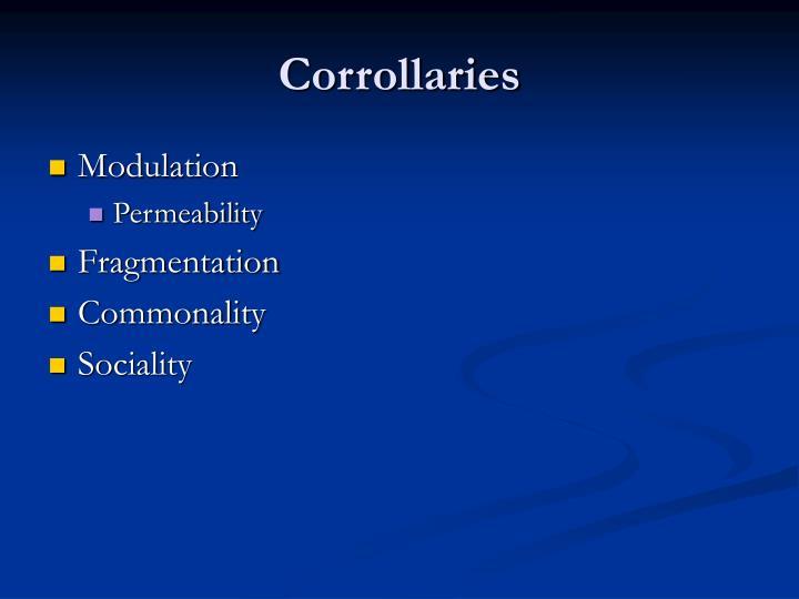 Corrollaries