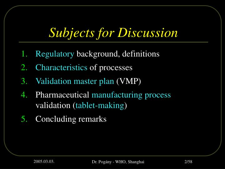 m.pharm thesis on process validation To review process validation protocol & report  m pharm (pharmaceutics  book publication and thesis writing solution at very reasonable cost.