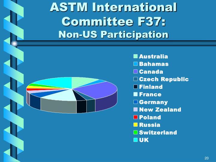 ASTM International Committee F37:
