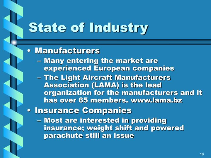 State of Industry