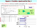 signals vs variables signal used for out 1