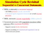 simulation cycle revisited sequential vs concurrent statements