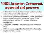 vhdl behavior concurrent sequential and processes
