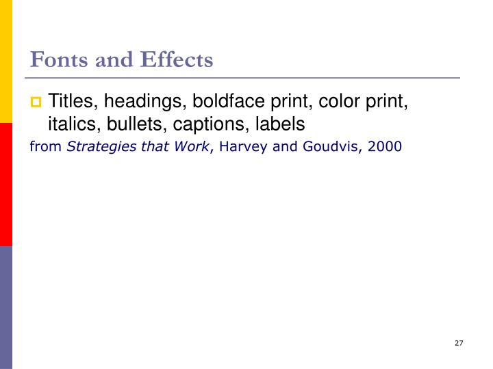 Fonts and Effects