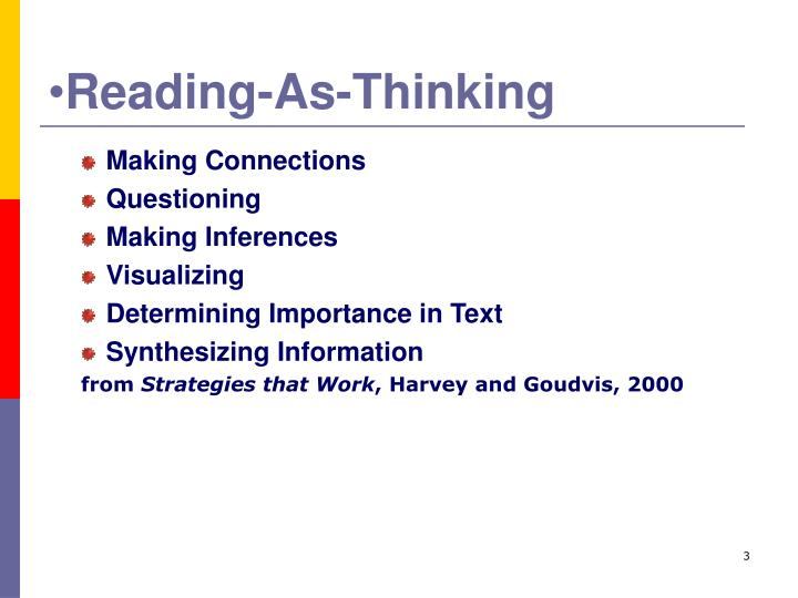 Reading as thinking