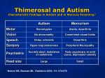 thimerosal and autism characteristic findings in autism and in mercury poisoning