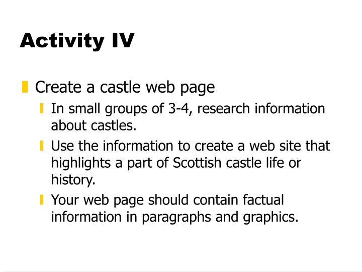 Activity IV