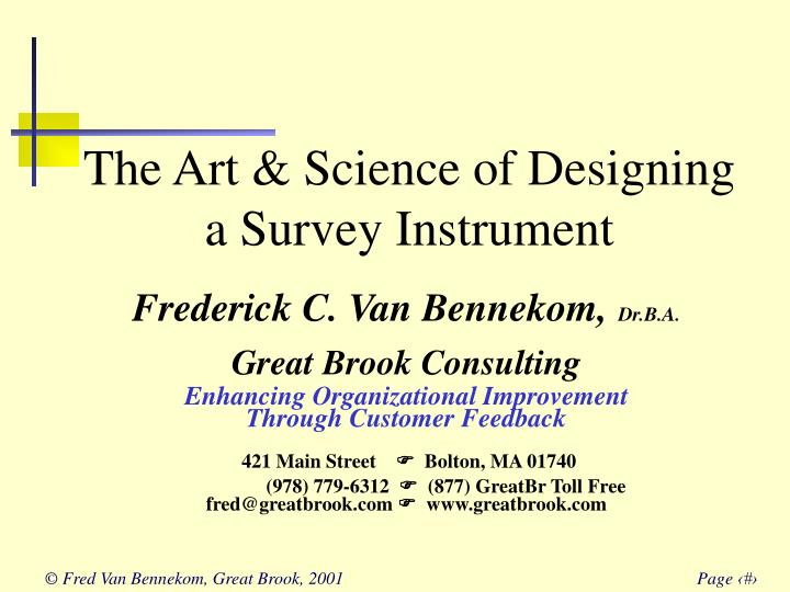 the art science of designing a survey instrument n.