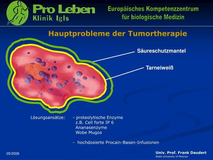 Hauptprobleme der Tumortherapie