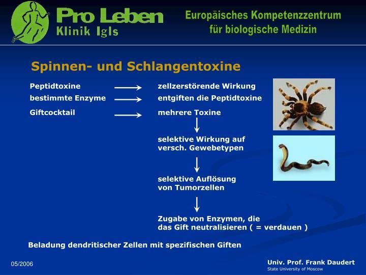 Spinnen- und Schlangentoxine