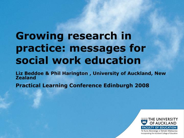 growing research in practice messages for social work education n.