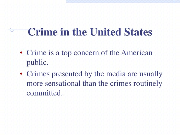 crime as presented by the media Racial bias and news media reporting: as issues of crime and race again came into the national spotlight they were accurately presented as perpetrators in the.
