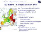eu ebene european union level