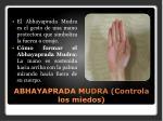 abhayaprada mudra controla los miedos