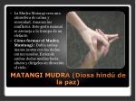matangi mudra diosa hind de la paz