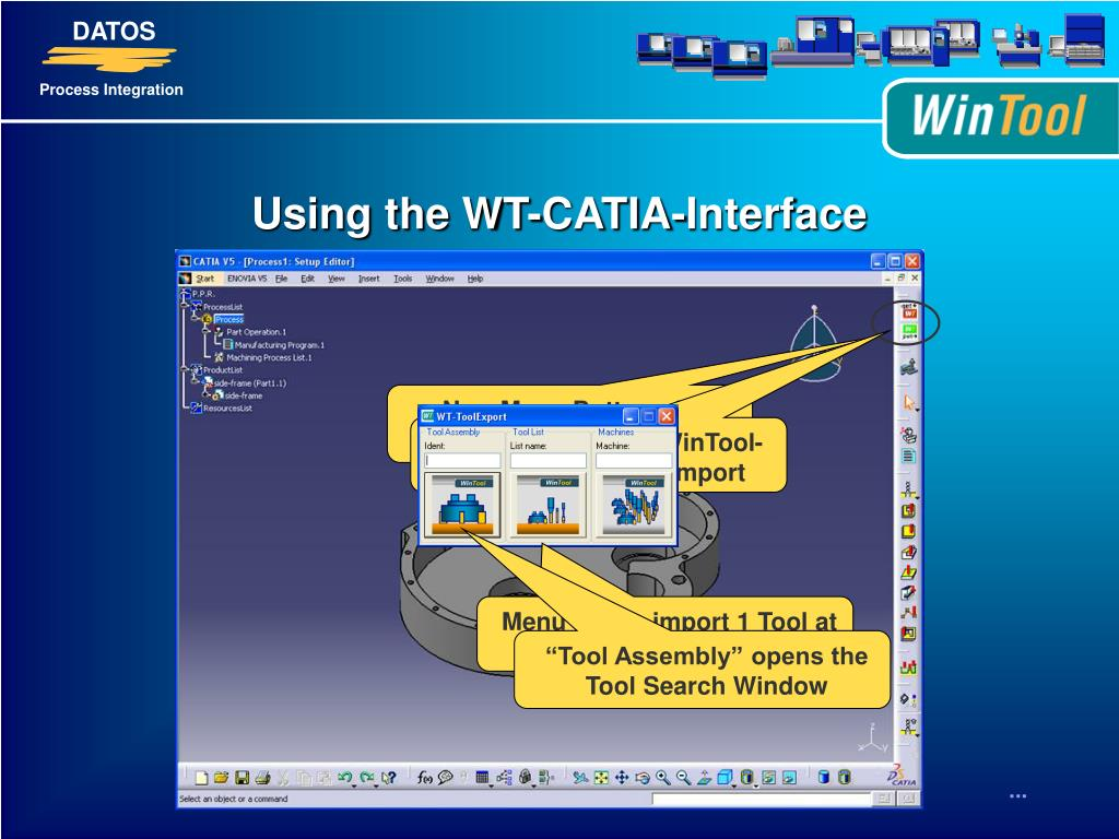 PPT - WinTool - CATIA V5 - Interface PowerPoint Presentation