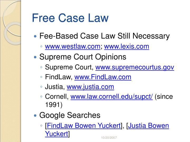 Free Case Law