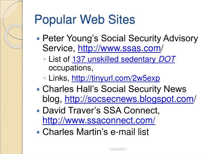 Popular Web Sites