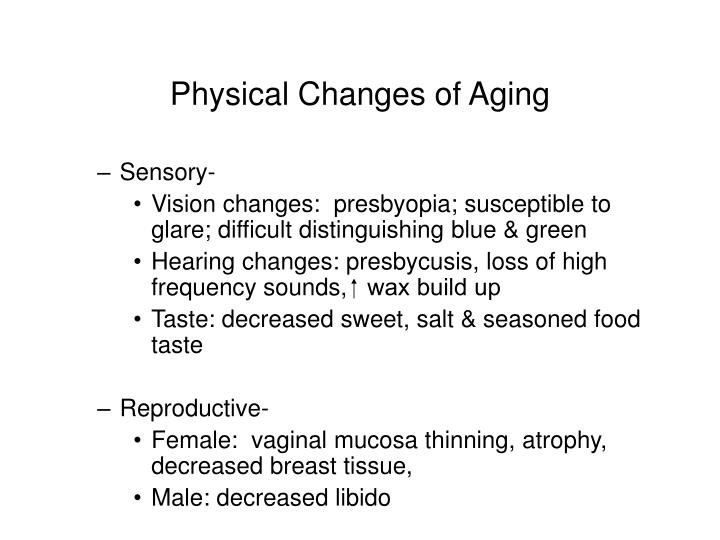 Physical Changes of Aging