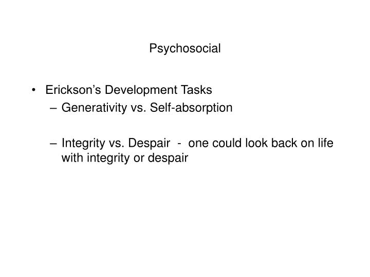 erickson integrity versus despair