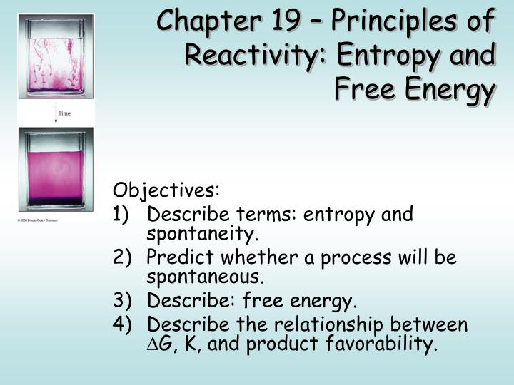 chapter 19 principles of reactivity entropy and free energy n.
