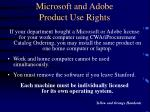 microsoft and adobe product use rights