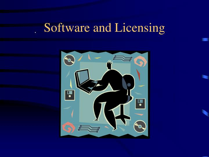 software and licensing n.