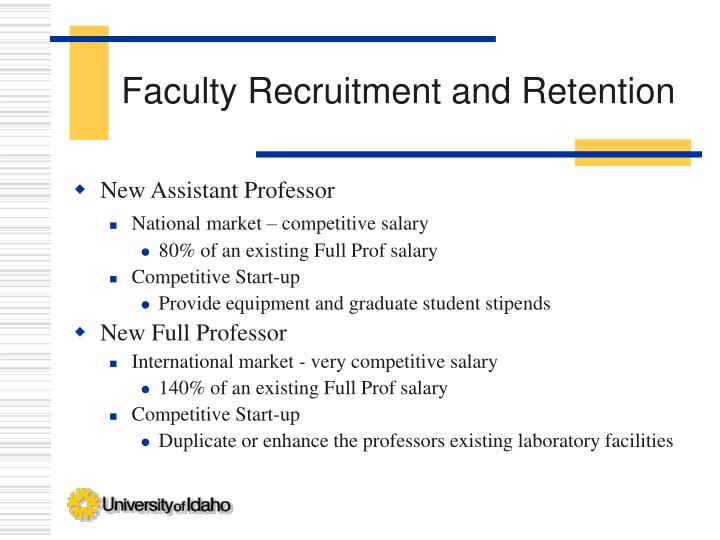 Faculty Recruitment and Retention