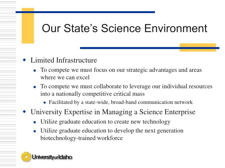 Our State's Science Environment