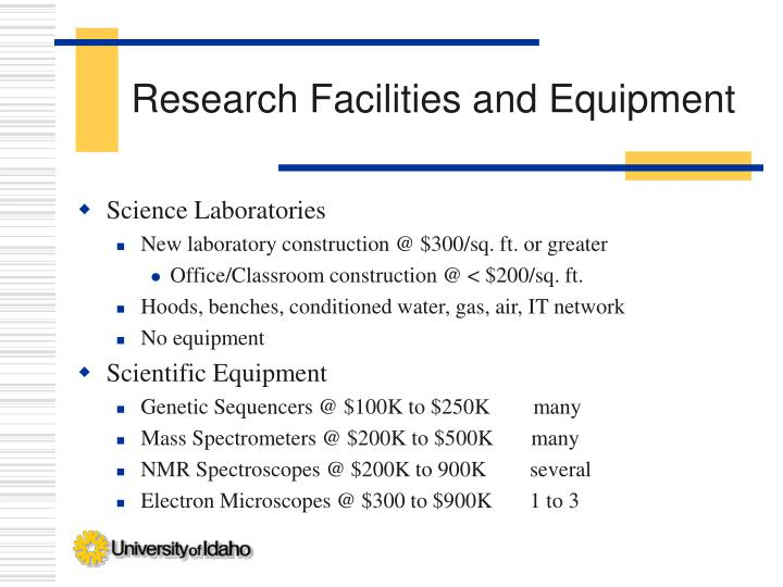 Research Facilities and Equipment