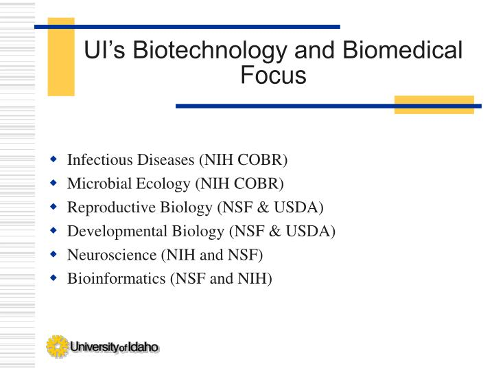 UI's Biotechnology and Biomedical Focus