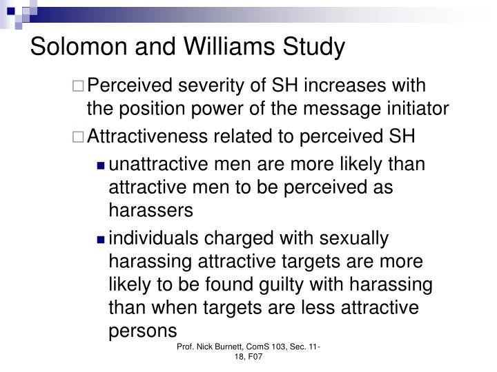 Solomon and Williams Study