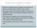 health issues in south los angeles