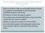 what can explain concentration of poor health outcomes in south los angeles