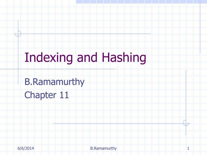indexing and hashing n.