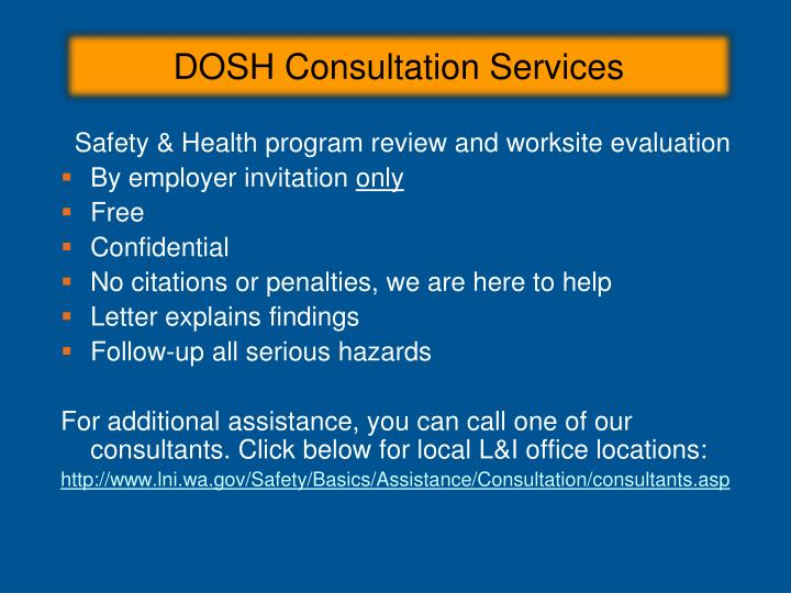 DOSH Consultation Services