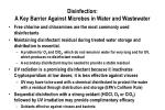 disinfection a key barrier against microbes in water and wastewater