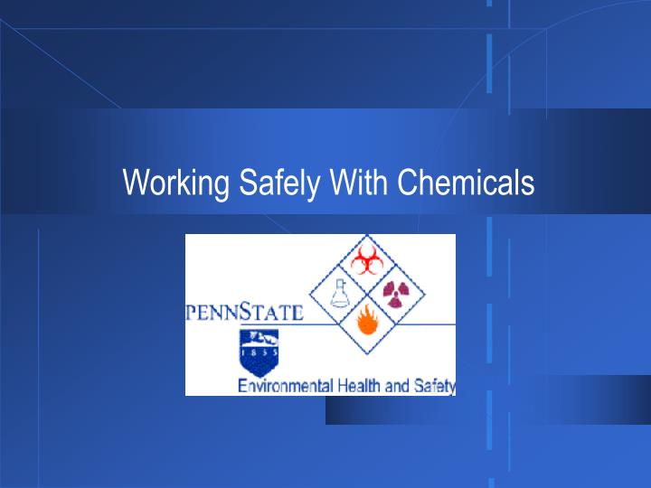 working safely with chemicals n.