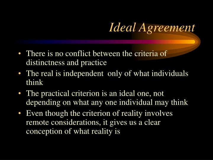 Ideal Agreement