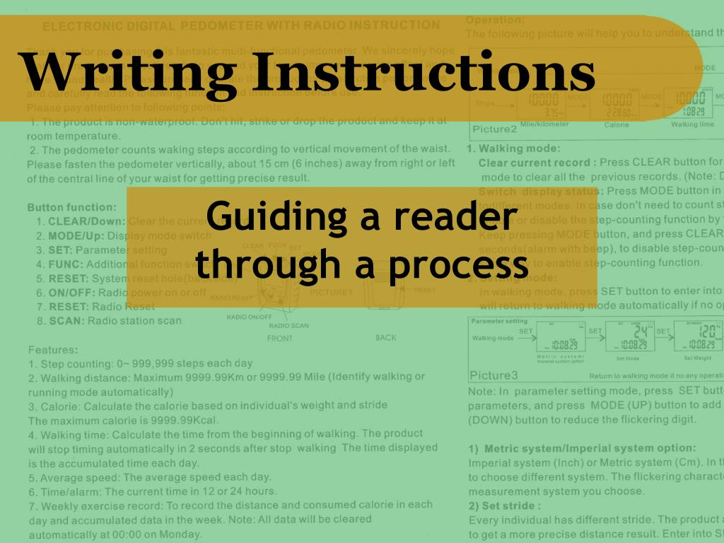 PPT - Writing Instructions PowerPoint Presentation, free download -  ID:1293718