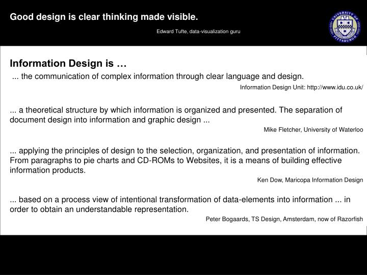Information Design is …